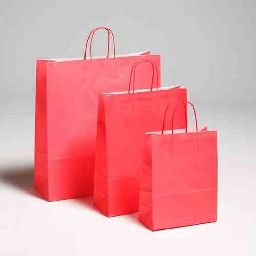 320x410+140mm Coloured Paper Carrier Bag Twisted Handle