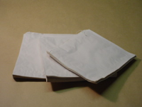 "100 x 150 x 650mm (4 x 6 x 26"") White Paper Bag"