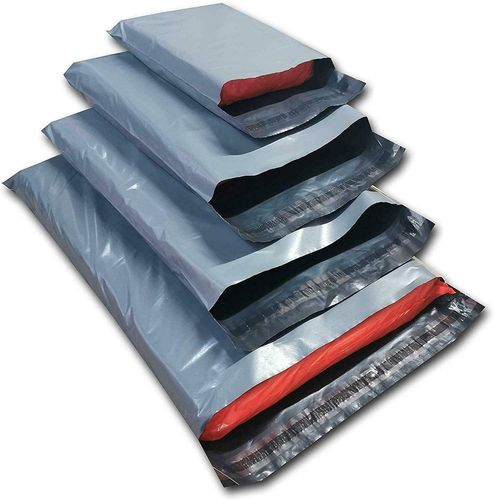 250 x 350 + 50mm x 55mic Grey Polythene Envelopes