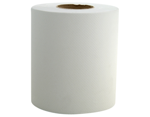 Pack 195mm x 150mtr 2 Ply White Centrefeed Hand Towel Rolls