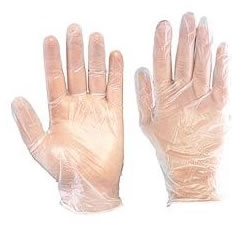 Natural Vinyl Non Powdered Disposable Gloves