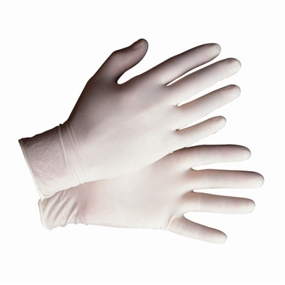 Natural Latex Powdered Disposable Gloves