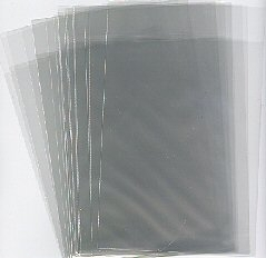 165x222 x 32mm x 25mic S/A Clear Polypropylene Greeting Card Bag