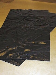"30x46x54"" x90g Black Regran Light Duty Wheelie Bin Liner"