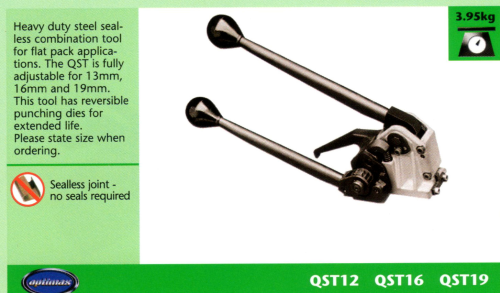 QST Heavy Duty Steel Strapping Seal-less Combination Tool