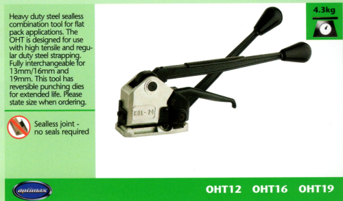 OHT Heavy Duty Steel Strapping Seal-less Combination Tool