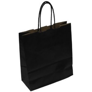 450x480+170mm Black Paper Carrier Bag Twisted Handle